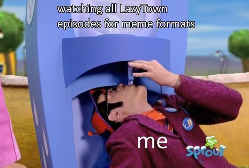 lazy town meme