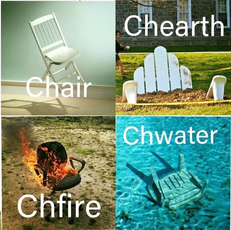 Chair - Chearth Chair Chwater Chfire