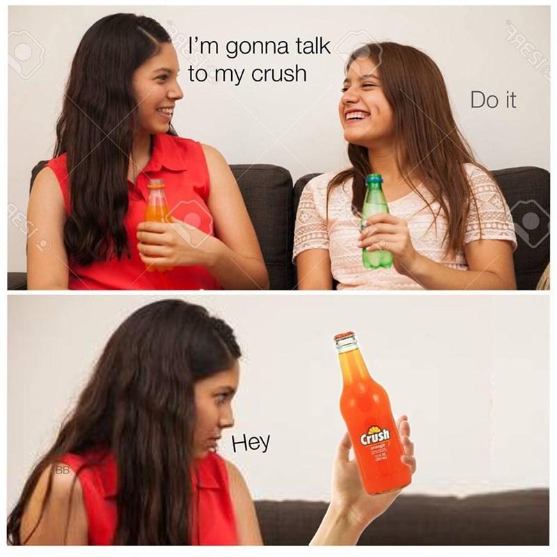 Drink - I'm gonna talk to my crush Do it Неу BB Crush orange 12 RESIO