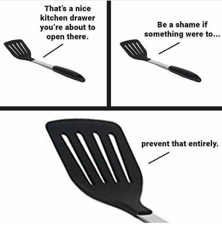 spatula in the drawer meme