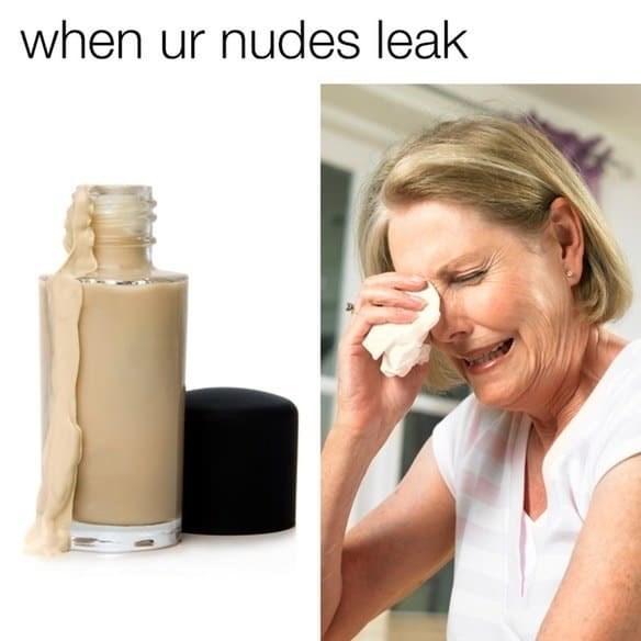 nudes leak ironic meme