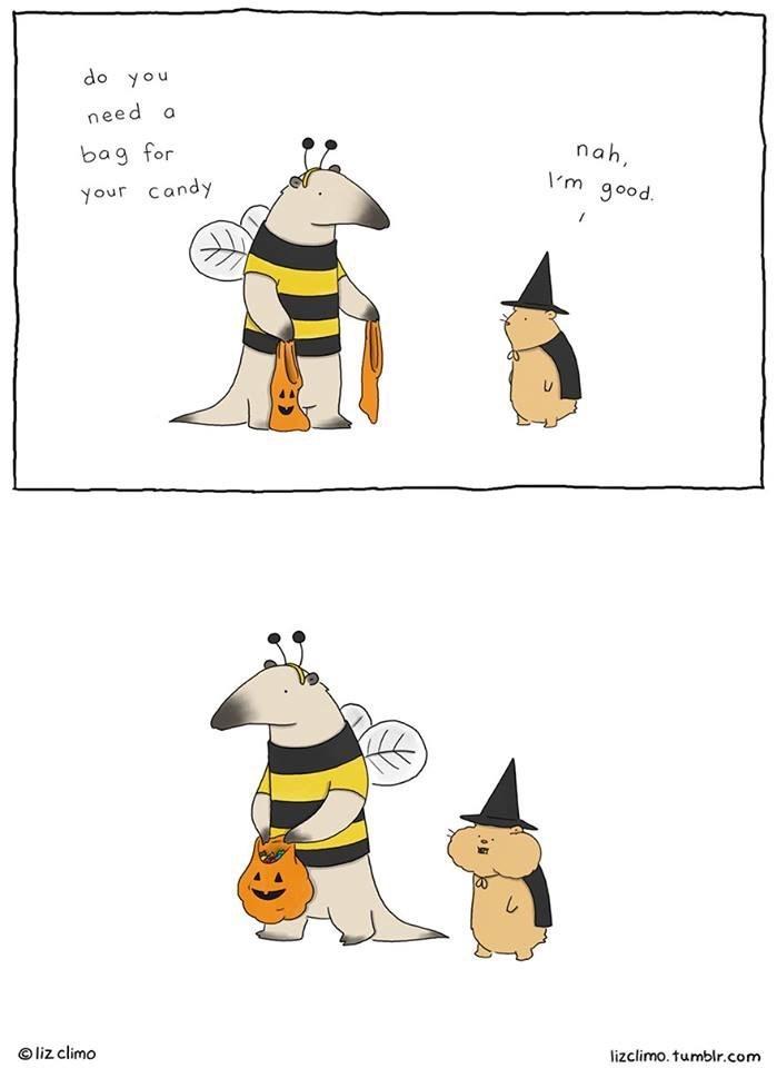 Cartoon - do you need a nah bag for Im good your candy Oliz climo lizclimo. tumblr.com