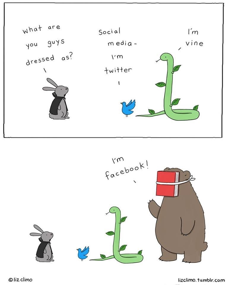Text - what are Social I'm guys you media vine dressed as? m twitter Im facebook! liz climo lizclimo. tumblr.com