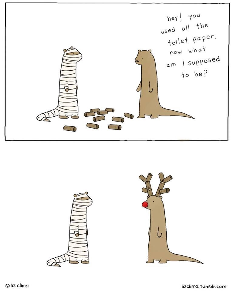 Pattern - hey! you used all the toilet paper. now what am Supposed to be? L liz climo lizclimo. tumblr.com