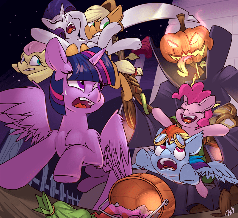 applejack passig camel halloween terraria twilight sparkle pinkie pie rarity fluttershy rainbow dash - 9227667200