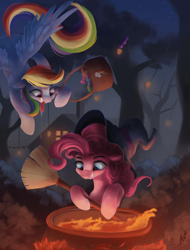 fluttersheeeee halloween pinkie pie rainbow dash - 9227987968