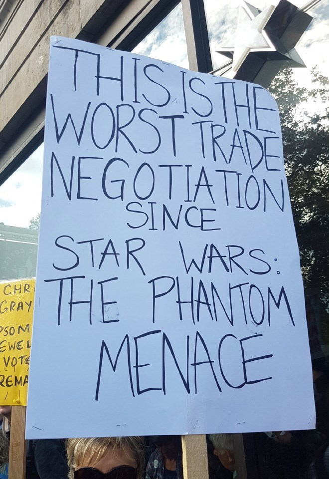 Font - THISISTHE WORST TRADE NEGOTIATION SINCE STAR WARS: THE PHANTOM 31105 CHR GRAY SOM WEL VOTE REMA MENACE