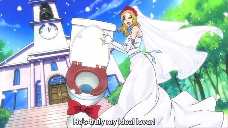 anime meme - Cartoon - He's truly my ideal lover!