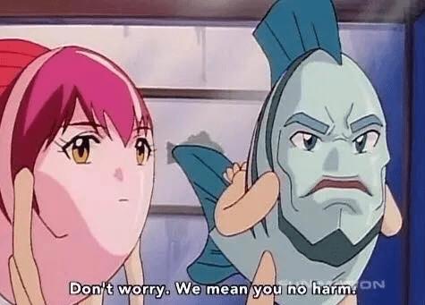 anime meme - Cartoon - Don't worry. We mean you no harmN