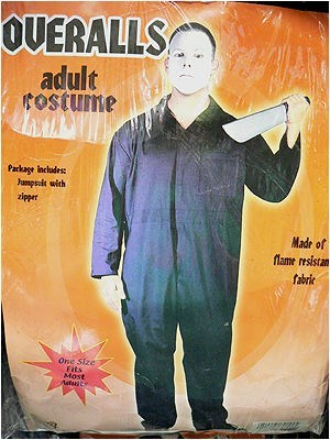 Poster - OVERALLS adult fOstume Package Includes Junpsit with zipper Made of flame resistan fabri One Size Fits Most