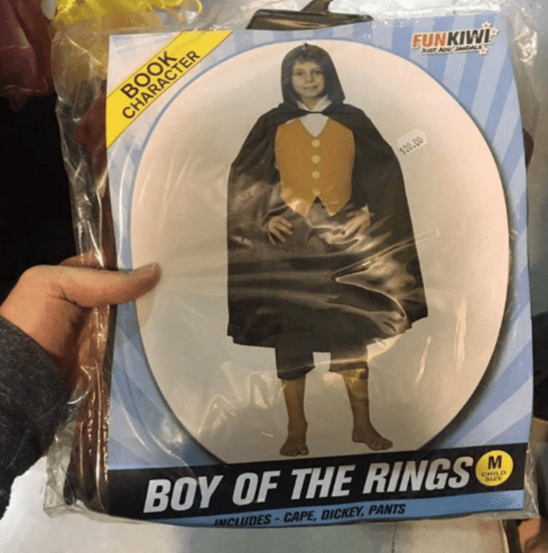 Action figure - BOOK CHARACTER FUNKIW JUST ADDGAL $20.00 BOY OF THE RINGS NCLUDES CAPE, DICKEY, PANTS CHILD
