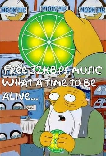 limewire meme about having free music from it
