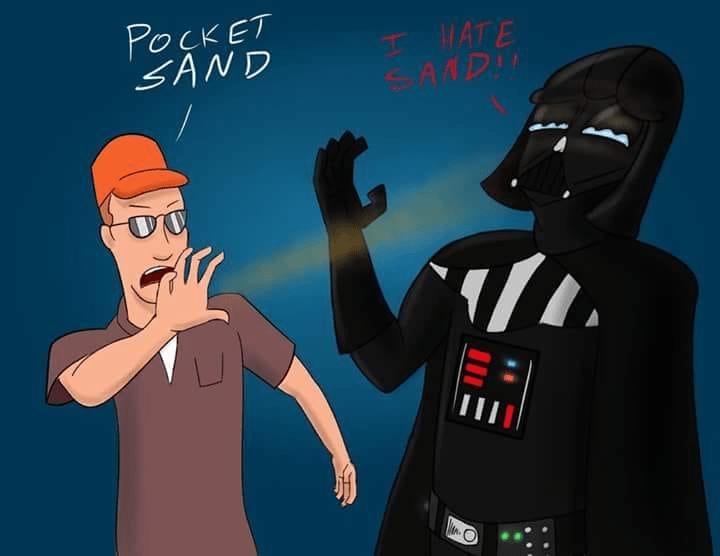 Cartoon - POCKET SAND HATE AMDI