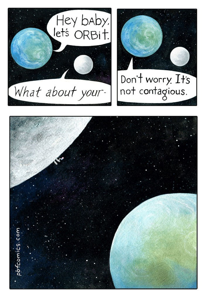 comic about earth infecting the moon with std in the form of humans