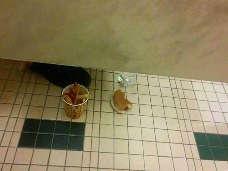 cursed_image - bathroom floor with food