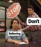 """wholesome meme from Icarly about """"Don't Stop Believing"""" by Journey"""