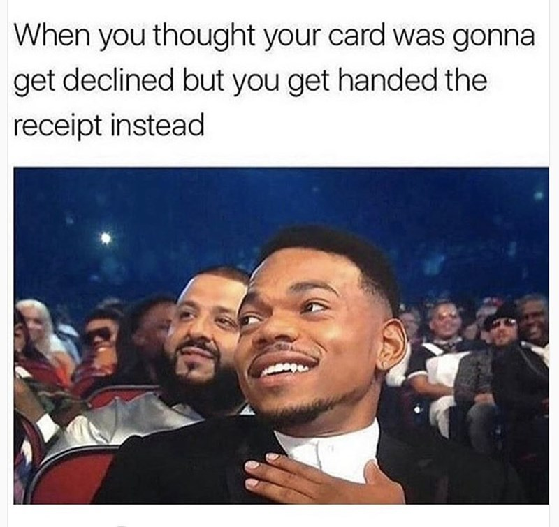 humpday meme about your card going through