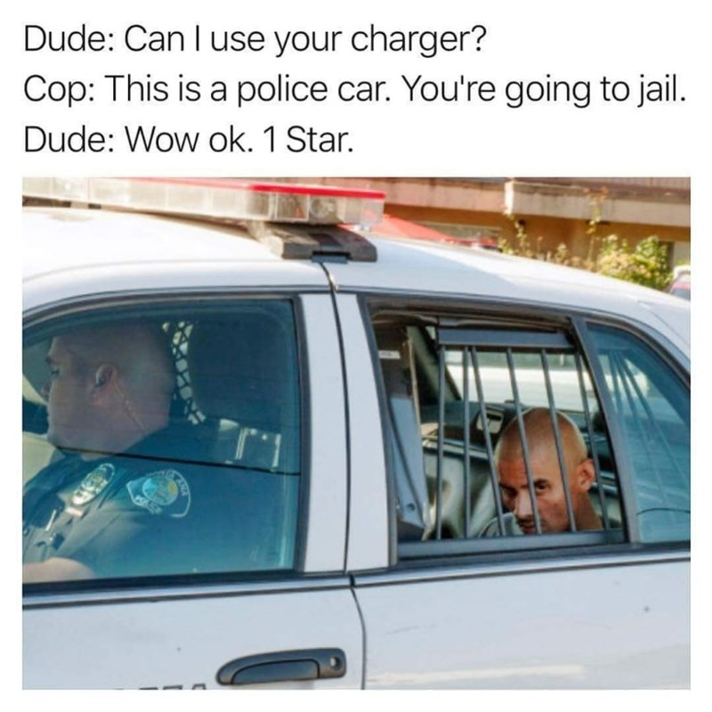 humpday meme about mistaking a police car for an uber