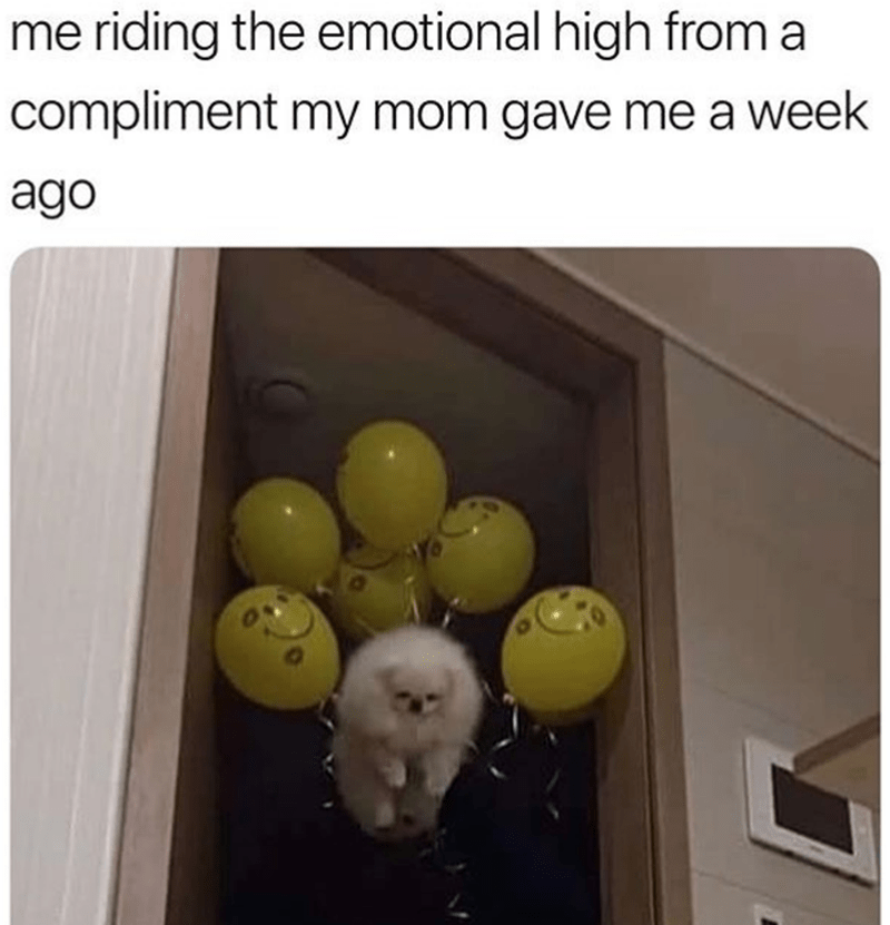 Room - me riding the emotional high from a compliment my mom gave me a week ago