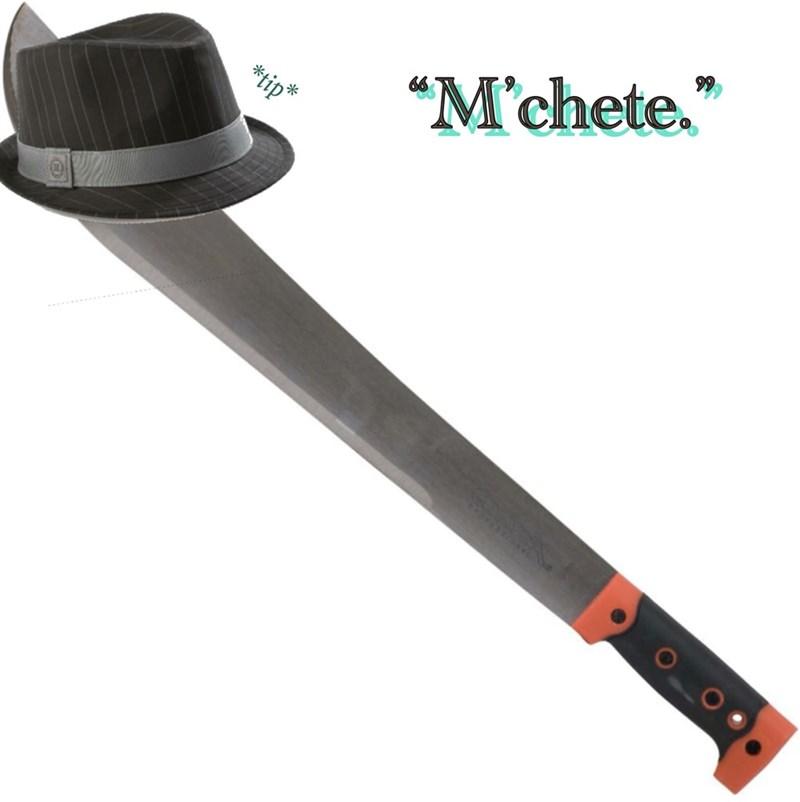neckbeard meme machete lady