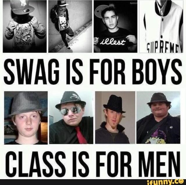neckbeard meme comparing between swag boys in baseball caps and classy men in fedoras