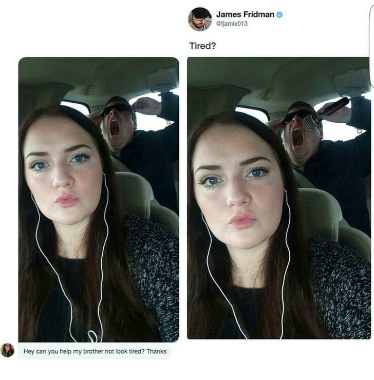 Face - James Fridman efjamie013 Tired? Hey can you help my brother not look tired? Thanks