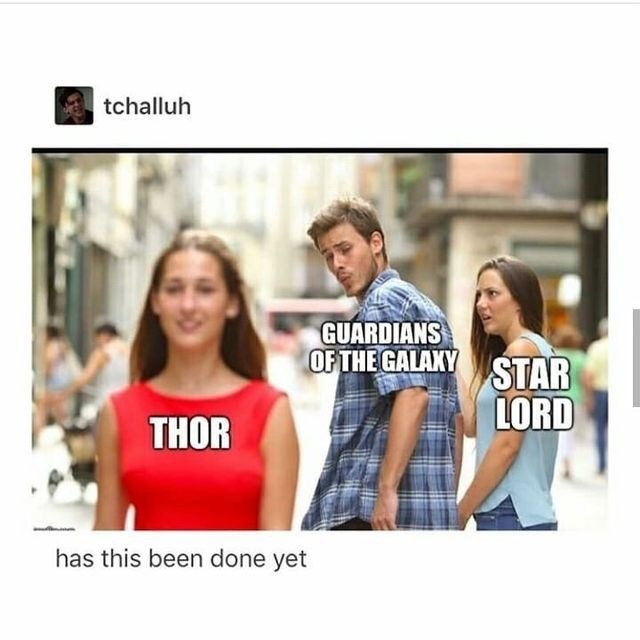 T-shirt - tchalluh GUARDIANS OF THE GALAKY STAR LORD THOR has this been done yet