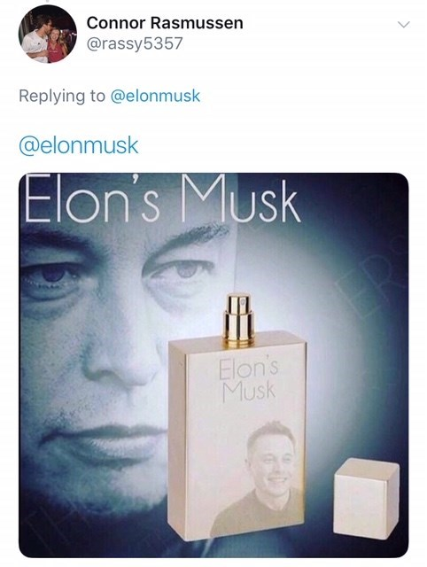 dank meme about Elon's Musk as perfume