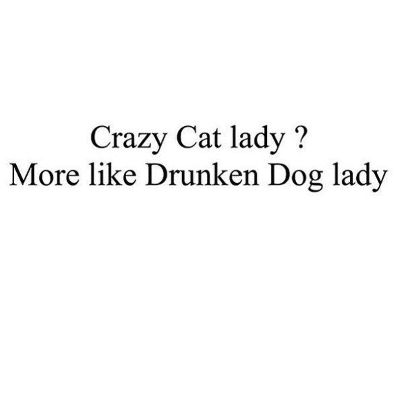 meme about being a drunken dog lady