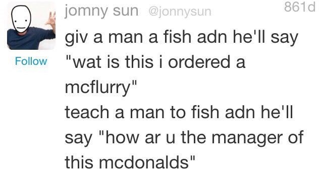 dank meme about teaching man to fish over giving it to him