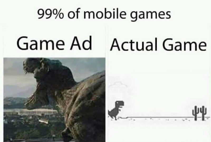Funny meme about mobile games.