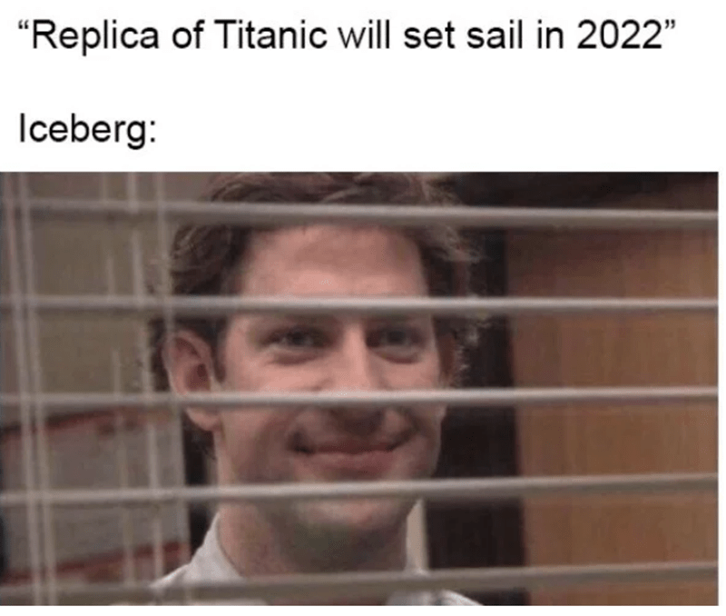 "Face - ""Replica of Titanic will set sail in 2022 Iceberg:"