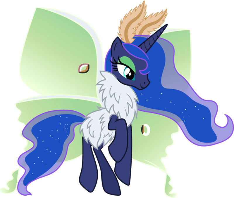 mothpony puns cloudy glow princess luna - 9230628608