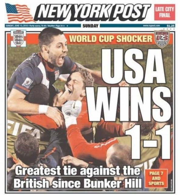 headline - Magazine - NEWYORK POST LATE CITY FINAL NDAY AUNE 13,2015/ SUNDAY www.nypost.com $1.25 r WORLD CUP SHOCKER USA WINS 1-1 ELFA Greatest tie against the British since Bunker Hill PAGE 7 AND SPORTS