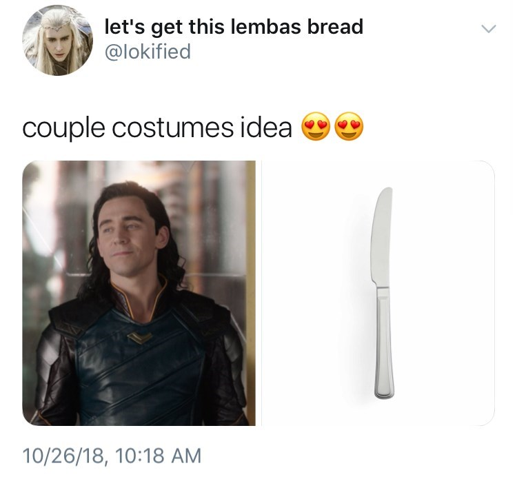 Product - let's get this lembas bread @lokified couple costumes idea 10/26/18, 10:18 AM