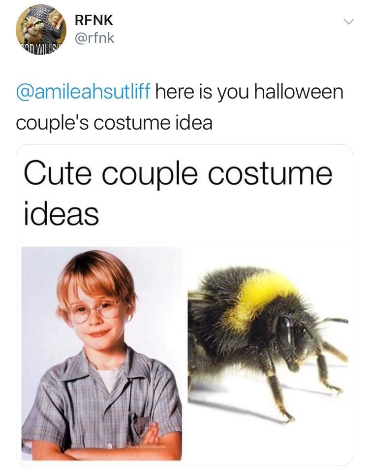 Insect - RFNK @rfnk IM @amileahsutliff here is you halloween couple's costume idea Cute couple costume ideas MoviestillsDB.com