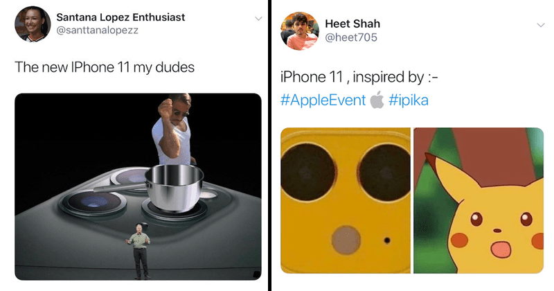Funny memes and reactions to iphone 11 release, multi-lens camera.