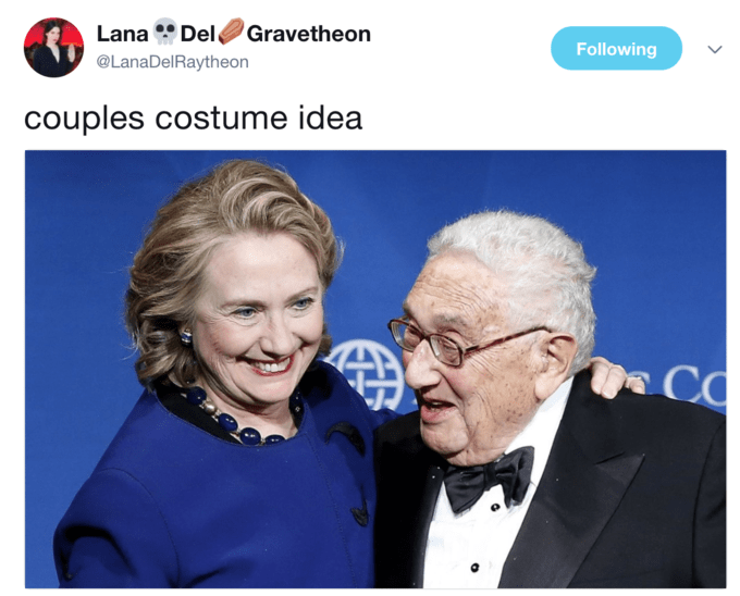 Photo caption - Lana Del Gravetheon Following @LanaDelRaytheon couples costume idea CO