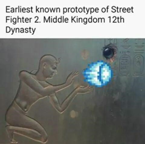 Text - Earliest known prototype of Street Fighter 2. Middle Kingdom 12th Dynasty CMICO