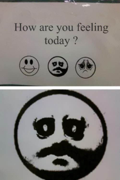meme - Face - How are you feeling today?
