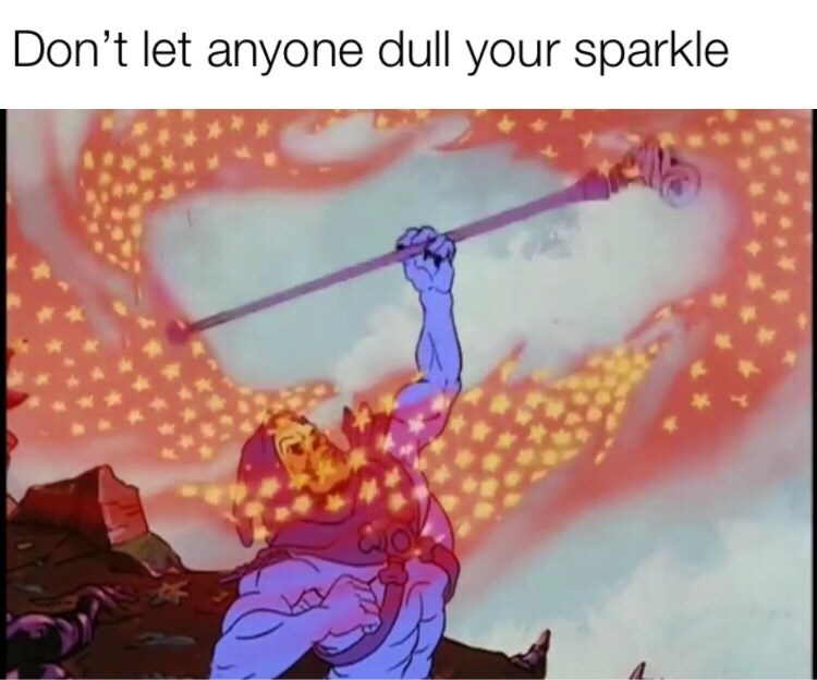 meme - Text - Don't let anyone dull your sparkle