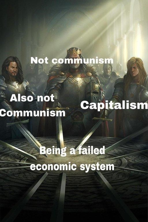 swords united meme about economic systems that failed