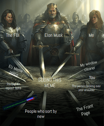 swords united meme about the people watching this meme