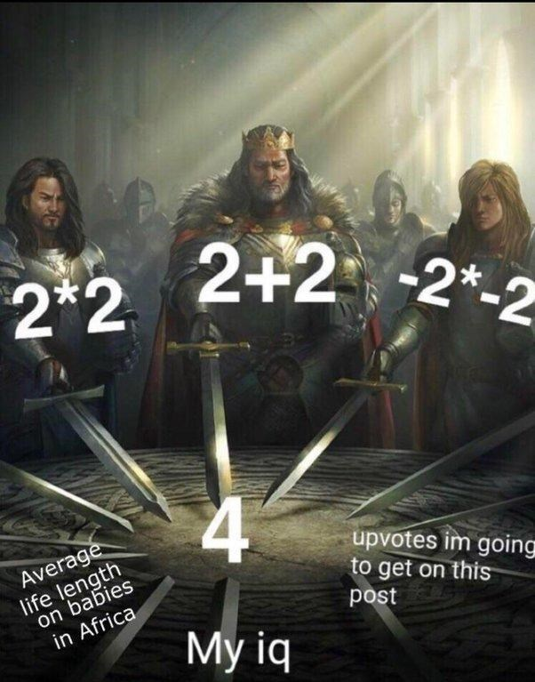 swords united meme about the number 4