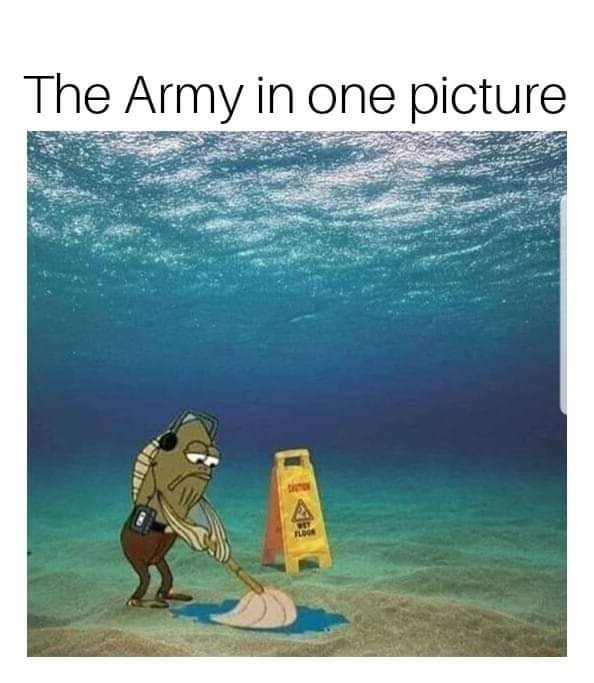 Water - The Army in one picture FLOOR