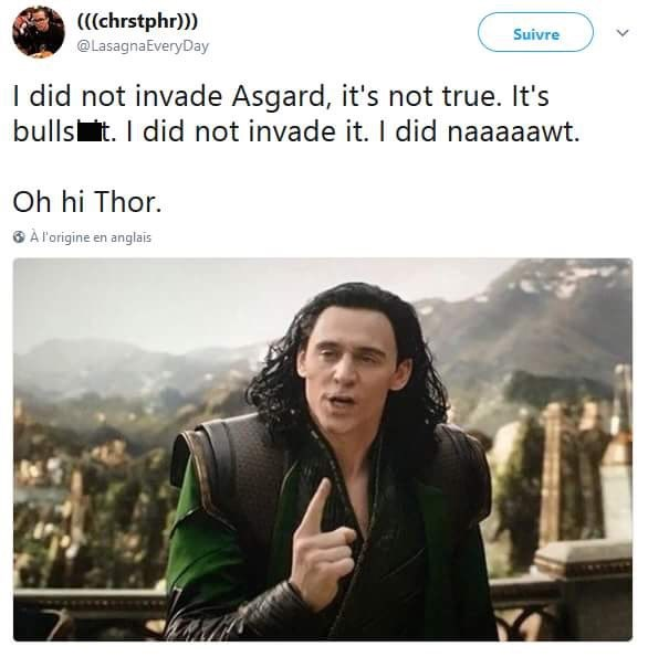The Room Thor meme about Loki not invading Asgard