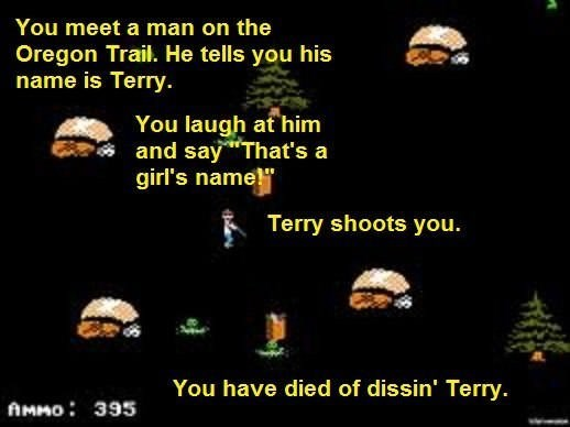 stupid meme about dissin' Terry