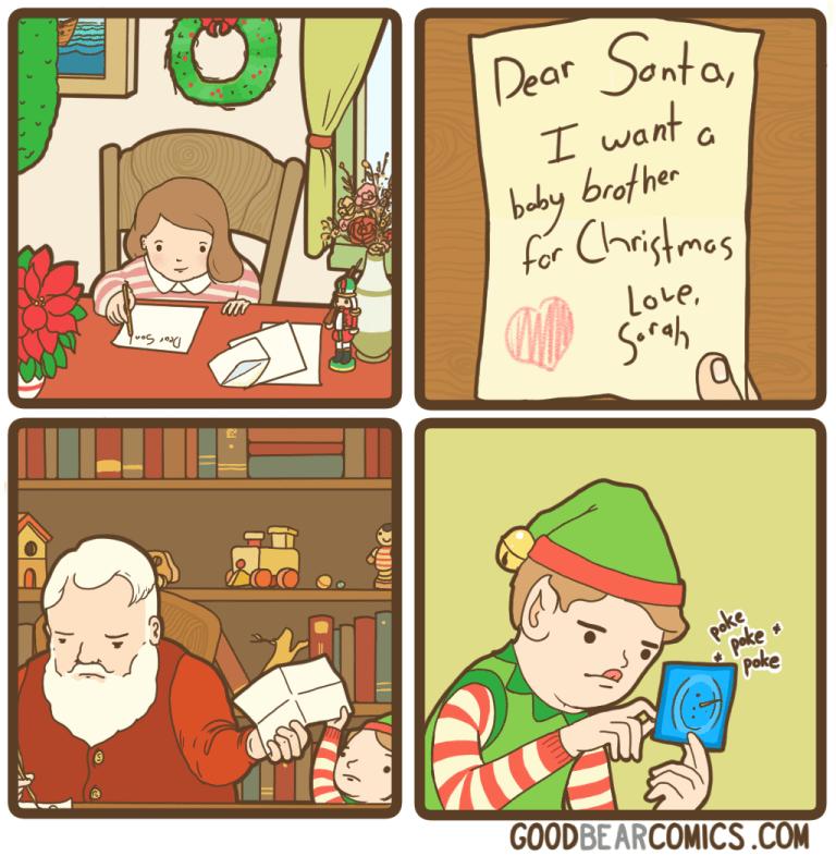 stupid meme of santa poking holes in a condom