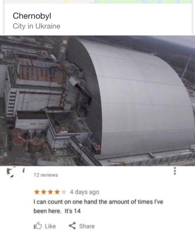 Product - Chernobyl City in Ukraine 12 reviews 4 days ago I can count on one hand the amount of times I've been here. It's 14 Like Share