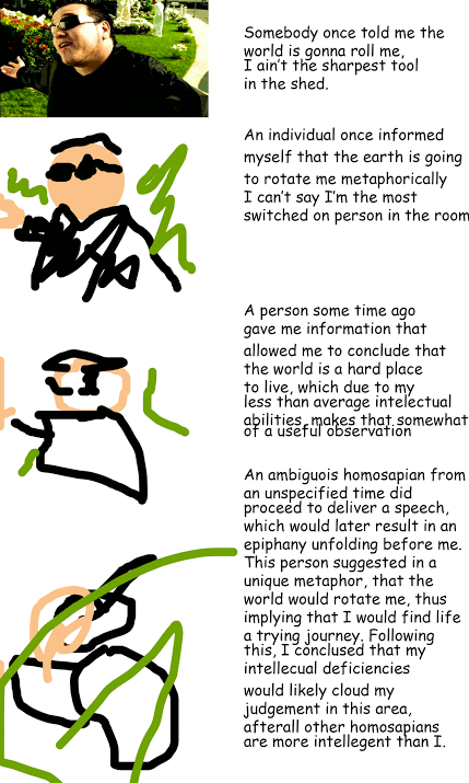 increasingly verbose meme with Smash Mouth All Star